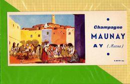 BUVARD & Blotting Paper  : Champagne MAUNAY AY  : Le Souk Marché Nord Afrique - Liquor & Beer