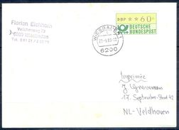 G263- Deutschland Germany Postal History Cover. ATM Machine Label Stamp. - [5] Berlin