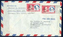 G275- USA United States Postal History Cover. Post To U.K. England. - United States