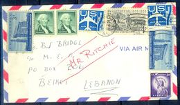 G279- USA United States Postal History Cover. Post To Lebanon. Liberty. Horse. - United States