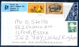 G282- USA United States Postal History Cover. Post To U.K. England. - United States