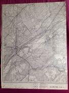 CARTE D ETAT MAJOR 54/8 1924 MARCHE-EN-FAMENNE WAHA VERDENNE MARENNE CHAMPLON BOURDON HOLLOGNE RABOSEE GRIMBIEMONT S724 - Marche-en-Famenne