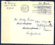 G286- USA United States Postal History Cover. Post To Switzerland. Bird. - United States