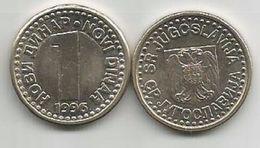 Yugoslavia 1 Novi Dinar 1996. AUNC  KM#168 - Yougoslavie