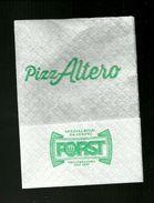 Tovagliolino Da Caffè - Pizzeria PizzAltero ( Bologna ) - Company Logo Napkins