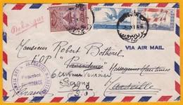 1946 - Enveloppe De Beyrouth, République Libanaise, Liban  Vers Sagny, France - Paquebot Providence CMM - Maritime Post