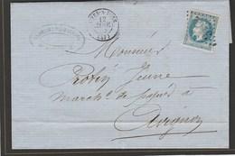 Isère - Rives Sur Fure GC3152 Sur N°29 - Janvier 1869 Vers Avignon - Marcophilie (Lettres)