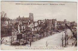 51. REIMS . GUERRE 1914.1918 . DANS LES ANNEES DE BOMBARDEMENTS . LA PLACE DROUET D'ERLON - Reims