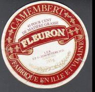 ETIQUETTE CAMEMBERT FABRIQUE EN ILLE ET VILAINE, FLEURON, 35240, LES BERTIERS - Fromage