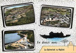 - Herault -gd Format-ref-U776- La Salvetat Sur Agout - Souvenir De.. - Multi Vues Postes De Television Et Antenne - - La Salvetat