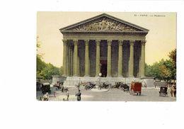 Cpa - 75 - PARIS - La  Madeleine N°93 Agent Circulation Voitures Travaux Arrosoir Publicité Collection BANANIA Déjeuner - Advertising