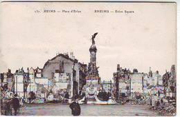 51. REIMS . GUERRE 1914.1918 . BOMBARDEMENTS DE REIMS . PLACE D'ERLON - Reims