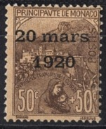 MONACO 1919 / 1921 -  Y.T. N° 41  -  NEUF** 1 - Neufs