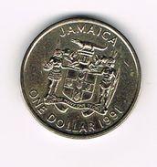 ) JAMAICA  1 DOLLAR  1991 - Jamaique