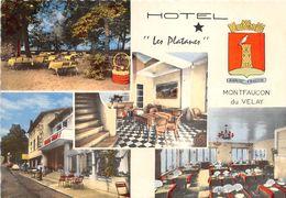 43-MONTFAUCON-EN-VELAY HÔTEL LES PLATANES - MULTIVUES - Montfaucon En Velay