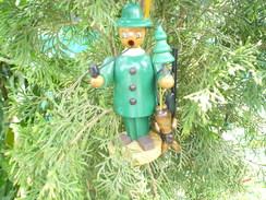 Räuchermann Erzgebirge Holz Figur Jäger/Förster - Mit Hase Und Gewehr (493) - Raucherutensilien (ausser Tabak)