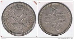 PALESTINA 50 MILS  1935 PLATA SILVER S - Monedas