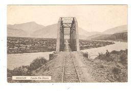 CPA Argentine MENDOZA Puente Rio Blanco 1916 Vue Peu Commune - Argentine