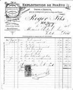 51 Ay Facture De 1907 ROGER & Fils, Exploitation De Forets,Usine à Vapeur,Fabrique Spéciale De Pupitres à Bouteilles.Tbe - France