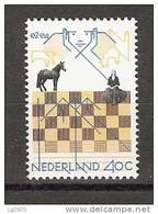 Netherlands Nederland Pays Bas Niederlande Holanda 1159 MNH; Schaken, Play Chess, Jouer Aux Echecs, Jugar De Ajedrez - Echecs