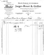 51 Epernay- 1930.Grand Garage D'Automobiles JAEGER ROUOT & GRILLIAT,34,36,38 Avenue J Jaurès.Facture Complète TB état. - France