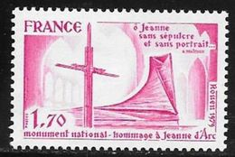 TIMBRE N° 2051  -  NEUF -   MONUMENT NATIONAL JEANNE D'ARC -  1979 - France