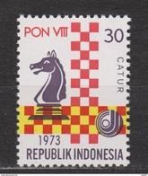 Indonesie 744 MNH; Schaken, Play Chess, Jouer Aux Echecs, Jugar De Ajedrez 1973 NOW MANY STAMPS INDONESIA VERY CHEAP - Schaken