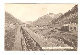 CPA Argentine MENDOZA Estacion Inca F C Transandina 1916 - Argentine