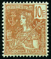 N°40, 10 F. Rouge Sur Vert-bleu, TB - Indochina (1889-1945)