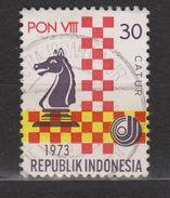Indonesie 744 Used; Schaken, Play Chess, Jouer Aux Echecs, Jugar De Ajedrez 1973 NOW MANY STAMPS INDONESIA VERY CHEAP - Schaken