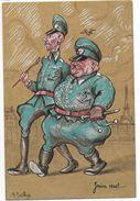 GUERRE 39/45 - PROPAGANDE ANTI NAZIE - ILLUSTRATEUR PAILHES : HIMMLER ET GÖRING En JUIN 1940 ! - Guerre 1939-45