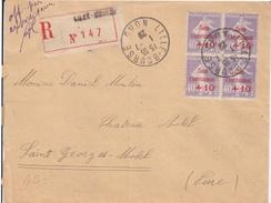 Caisse D'amortissement N° 249 X 4 Sur Lettre Recommandée  De Lille Bourse Le 1/7/ 29 Pour St Georges Motel (Eure) - Caisse D'Amortissement