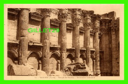 BAALBEK, SYRIE - TEMPLE DE BACCHUS, DÉCORATION INTÉRIEURE - PALMYRA HOTEL - COLLECTION ORIENT-MONUMENTS - - Syrie