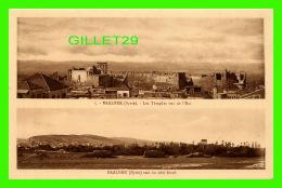 BAALBEK, SYRIE - LES TEMPLES VUS DE L'EST & VUE DU CÔTÉ NORD - PALMYRA HOTEL - COLLECTION ORIENT-MONUMENTS - - Syrie