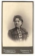 Fotografie Samson & Co., Chemnitz, Portrait Juge Dame Mit Schmuck Halskette - Anonyme Personen