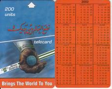 SUDAN - Calendar 2002, Sudatel Telecard 200 Units, Sample(no Chip, No CN) - Sudan