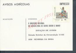PORTUGAL CARTE COMMERCIALE AVIS AGRICOLE NEUVE : - Portugal