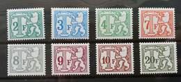 Belgium Postage Due 1985 (stamp) MNH *complete Set 8v - België