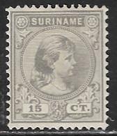 SURINAME 1892 Prinses Wilhelmina 15 Cent Grijs NVPH 25 (*) - Suriname ... - 1975