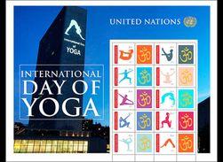 VN / United Nations - Postfris / MNH - Sheet Internationale Yoga Dag 2017 - Gezamelijke Uitgaven New York/Genève/Wenen