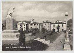 PIEVE SANTO STEFANO AREZZO GIARDINI PUBBLICI MONUMENTO F/G VIAGGIATA 1959 - Otras Ciudades