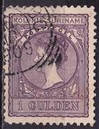 SURINAME 1904 Koningin Wilhelmina 1 Gulden Violet NVPH 56 - Suriname ... - 1975