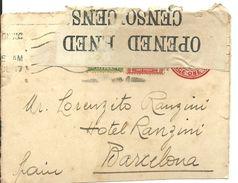 LETTER 1917  CENSOR    FRONT - 1902-1951 (Rois)