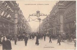 Paris - Les Souverains D'Italie à Paris - Avenue De L'Opéra  - Carte Précursur :  Achat Immédiat - France