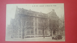 59 LILLE, L'Hôtel De Ville, Animée, Voitures, 1930, Nord, (L. Pollet) - Lille