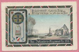 Belgique - LANGEMARK - Regimentskarte - Reserve Infanterie Regiment N° 235 - Feldpost - Guerre 14/18 - Langemark-Poelkapelle