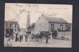 Rare Bouzy (51) La Place - Le Marché ( Animée Ed. Toussaint ) - Other Municipalities