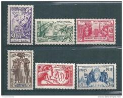 France Colonie  Timbres  D´AEF De 1937 N°27 A 32  Neufs * Cote 24€ - A.E.F. (1936-1958)
