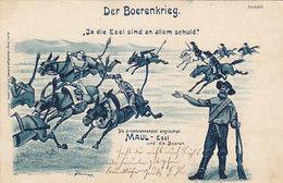 Der Boerenkrieg - Satirische AK - 1900       (A-47-160201) - South Africa