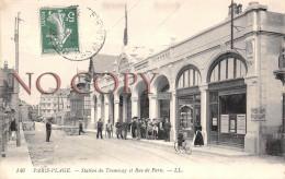 62 - Le Touquet Paris Plage - Station Du Tramway Et Rue De Paris - Le Touquet